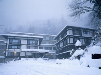 Yumoto Saito Ryokan in winter.